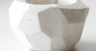 Make this geometric clay pot from air dry clay!