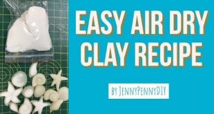 diy air dry clay|how to make air dry clay at home|air dry clay recipe - YouTube