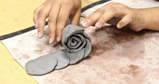 smART Class: Clay Roses - that is so flippin' smart....OMG