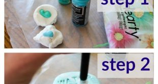 Air Dry Clay Garden Markers {Monthly DIY Challenge}  2019  Use lightweight air d...