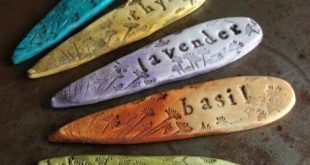 Seed markers in polymer clay....lovely gift idea - I definitely need to find som...