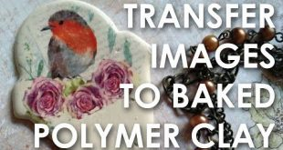 Transfer images to baked polymer clay - YouTube