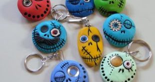 Air Dry Clay Tutorials: Cute Monster Keychains, Magnets or Brooches made from Pa...