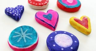 Air Dry Clay Hearts for Valentine's Day