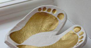 Clay Footprint Bowl Keepsake – a heart shape ring dish to treasure