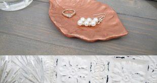 DIY Leaf Imprint Clay Dish using EasySculpt