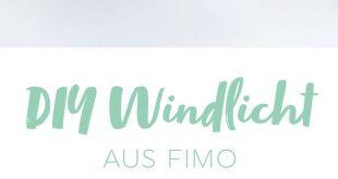 DIY: Windlicht mit FIMO-Blättern & Blattgold