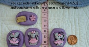 The Mice Girls & Cheese Food Grade Silicone Mold Fondant Gum Paste Pastillage Ch...