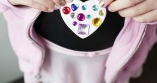 Color Me Happy Heart Pendants with Hearty Air Dry Clay