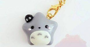 Cute Kawaii Ghibli Totoro with soot sprite
