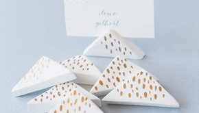 DIY Wedding: Air-Dry Clay Place-Card Holders