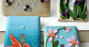 """""""Let there Bee Light,"""" Irises, Koi, and Pink flowers light switch plates"""