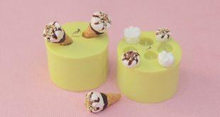 Mold Ice Cream-Mold Polymer Clay-Silicone Mold-Dollhouse Miniatures-Polymer Clay Mold-Fimo Mold-Jewelry Molds-Silicone Molds-Mold Fimo-ST598