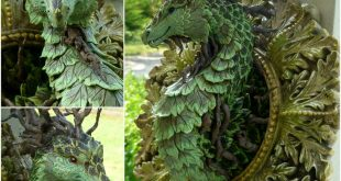 Step by Step blog of How to make this Polymer clay Forest Dragon Mystic Reflecti...