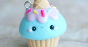 #kawaii #charms #polymer #clay #icecream #cone #cupcake #charm