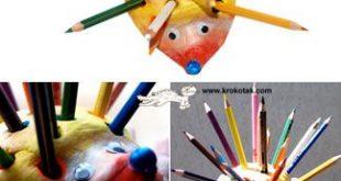 3-5. Hedgehog Pencil Holders!