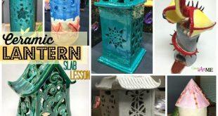 Ceramic Slab Lanterns Cut-Out Design