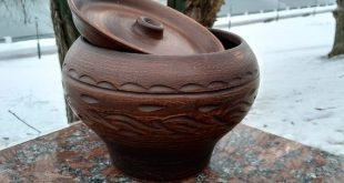 Ceramic casserole. Pottery Clay handmade from red Clay. Ecologically Clean Products. Quality Product