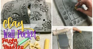 Clay Slab Wall Pockets with Pasta Noodle Designs