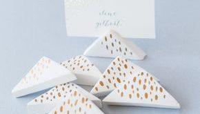 DIY Wedding: Air-Dry Clay Place-Card Holders #beachweddingcardholder
