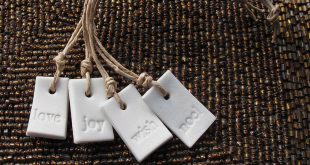 Festive Porcelain Tags