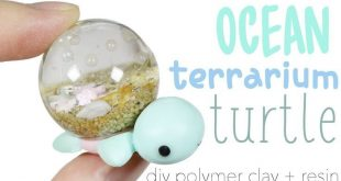 How to DIY Ocean Terrarium Dome Turtle Polymer Clay Resin Tutorial