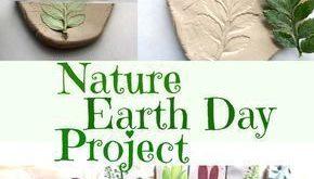 Nature Craft - Perfekt für Aktivitäten am Tag der Erde - Tonabdrücke mit Pflanzen und Blumen