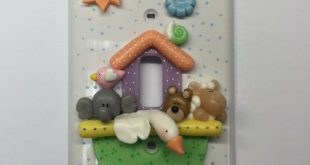 Single light switch cover with bright colorful Noahs Ark. Perfect for a bedroom,...