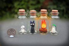 Studio Ghibli Critters in Bottles by KAkkoiITO.deviant... on @DeviantArt