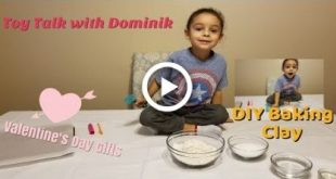 Valentines Day DIY Baked Clay Project for Kids