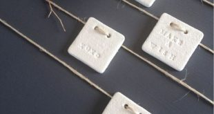 clay gift tags - mini square just because {set 4} - by mudbynest on madeit