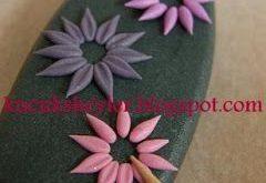 ♥ Polymer Clay / Fimo, Harz und Kartenherstellung ♥: steinig, blumig