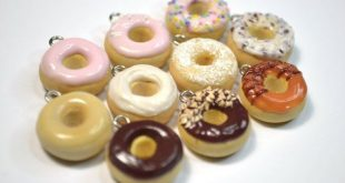 Assorted Donut Charms - Kawaii Miniature Food Polymer Clay