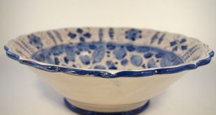 Blue and White Pottery Bowl