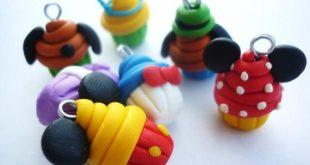 Cartoon charms- Cartoon inspired cupcake charms handmade with polymer clay