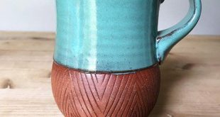 Ceramic Mug  Terracotta Coffee Cup  Red Clay Geometric  Pottery by Osa  2019  Ce...