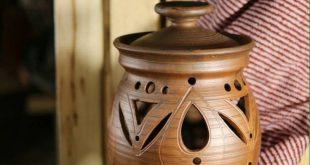 Ceramic Pottery Vase Red Clay Handmade Ornament Modern Original Studio Ecology
