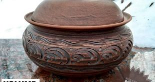 Ceramic casserole, large size. Quality Handmade. Pottery Clay. Ecologically clean products from red clay 100%