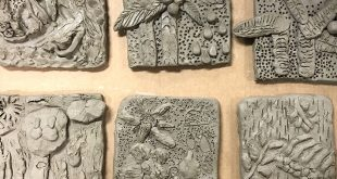 Create Colorful Clay Relief Tiles for Kids (with Air Drying Clay!)