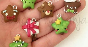 Cute kawaii pop fashion jewellery charms to make from polymer clay for your frie