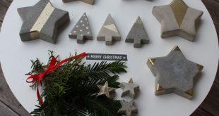 DIY: Betonsterne - Frohe Weihnachten