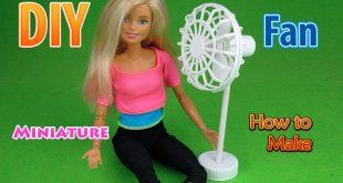 DIY Realistic Miniature Floor Fan | DollHouse | No Polymer Clay! - wikidiy.org/....