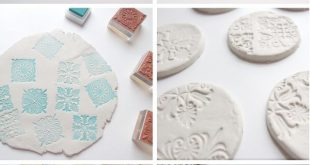 DIY STAMPED CLAY MAGNETS.