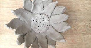 DIY Sunflower Clay Bowls