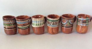 Details about Traditional Mexican Red Clay Coffee Mugs Set of 6 (SIX) Authentic ...