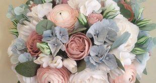 Dusty Rose Hochzeitsstrauß, zart rosa Hahnenfuß, Pfingstrose Bouquet, Hortensi...