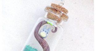 Halskette-Totoro in Kolben Cute Kawaii Fimo von BrunaZassou