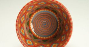 Hand Thrown Bowl Red Clay with Colorful Designs, Handmade Gift, Hand Painted Made Boho Mandala, Nut Bowl, Candy Dish, Salsa Bowl