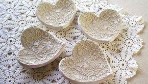 Handmade Pottery Lace Hearts...Palmeida's Lace by ... - #handmade #heart #Hearts...