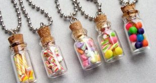 Holiday Treat Jar Pendant Necklace - polymer clay miniature food jewelry on Etsy